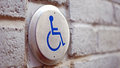 Push To Open Disabled Button in Montreal Royalty Free Stock Photo