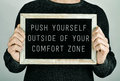 Push yourself outside of your comfort zone Royalty Free Stock Photo
