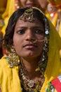 Pushkar fair pushkar camel mela rajasthan india november an unidentified girl attends the pilgrims and traders flock to the holy Stock Photo