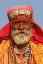 Portrait of an indian man at Pushkar fair Royalty Free Stock Photo