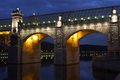 Pushkinskiy foot-bridge Royalty Free Stock Photo