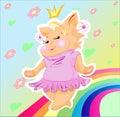 Pussy-cat tłuściuchnym princess jest Obrazy Stock