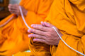 Put the palms of the hands together in salute monks thailand pray Royalty Free Stock Images