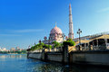 Putra Mosque, Putra Jaya Royalty Free Stock Photo