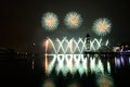 Putrajaya international fireworks competition held in malaysia is a annual event Royalty Free Stock Photography