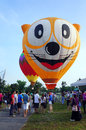Putrajaya malaysia march tethered hot air balloon rides for visitor at the th putrajaya international hot air balloon fiesta Stock Photo