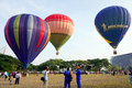 Putrajaya malaysia march tethered hot air balloon rides for visitor at the th putrajaya international hot air balloon fiesta Royalty Free Stock Photos