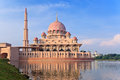Putrajaya malaysia putra mosque located in city the new federal territory of Royalty Free Stock Image