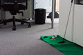 Putting Green in Modern White Office Corporate Fun Entertainment