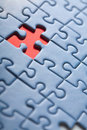 Puzzle background with one missing piece Royalty Free Stock Photo