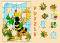 Puzzle of bee Stock Images