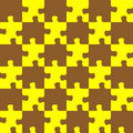 Puzzle brown and yellow Royalty Free Stock Images
