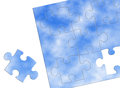 Puzzle bule sky on white background Royalty Free Stock Image