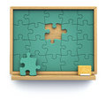 Puzzle chalkboard Stock Photography