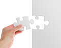 Puzzle close up of a game on white Royalty Free Stock Photo