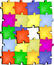 Puzzle color Royalty Free Stock Photography