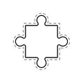 puzzle creativity innovation image outline Royalty Free Stock Photo