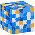 Puzzle cube illustration for your business presentation vector of Stock Images