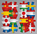 Puzzle flag icons  Royalty Free Stock Photography