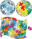 Puzzle globe Royalty Free Stock Photography