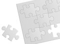 Puzzle gray on white background Stock Photography