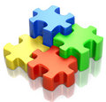 Puzzle Group Royalty Free Stock Photos