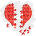 Puzzle heart + vector eps file Stock Photography