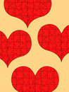 Puzzle hearts Stock Photography