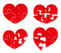 Puzzle Hearts Stock Image