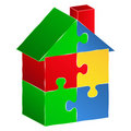 Puzzle house Stock Image