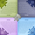 Puzzle infograhics template infographics design transparent effects were used to create shadow and shine vector illustration Stock Photography