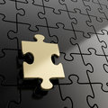 Puzzle jigsaw background with one piece stand out Royalty Free Stock Images