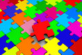 Puzzle jigsaw problem solution complicity concept idea solving d graphic with Stock Image