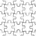 Puzzle jigsaw seamless pattern Royalty Free Stock Photo