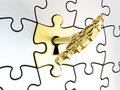 Puzzle key Royalty Free Stock Photo