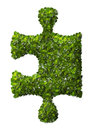 Puzzle Leaf texture. Royalty Free Stock Photo