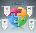 Puzzle logo. Business Infographics.