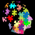 Puzzle man Royalty Free Stock Images