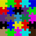Puzzle mix color jigsaw background Royalty Free Stock Photography