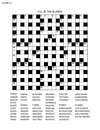 Puzzle page with criss-cross or fiil in word game
