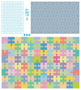 Puzzle patterns Stock Image