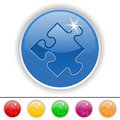 Puzzle piece icon Royalty Free Stock Photo