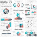 Puzzle piece infographics vector business jigsaw metaphors set eps Stock Photography
