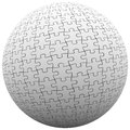 Puzzle Piece Sphere Ball Fit Together Peace Harmony Royalty Free Stock Photo