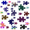 Puzzle pieces assorted Stock Photos
