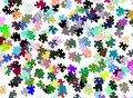 Puzzle pieces background image representing a made with colorful Stock Images