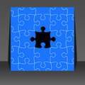 Puzzle pieces - flyer design Royalty Free Stock Photo
