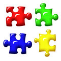 Puzzle pieces jigsaw in color illustration Stock Image
