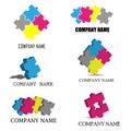 Puzzle pieces logos