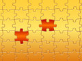 Puzzle pieces standing out Royalty Free Stock Photo